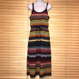 Athleta Colorful Rainbow Maxi Dress